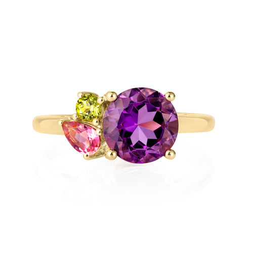 Gold Amethyst Gemstone Ring | The Como Collection | Augustine Jewels