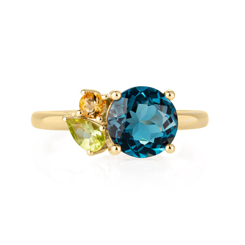 Topaz Gold Gemstone Ring | The Como Collection | Augustine Jewels