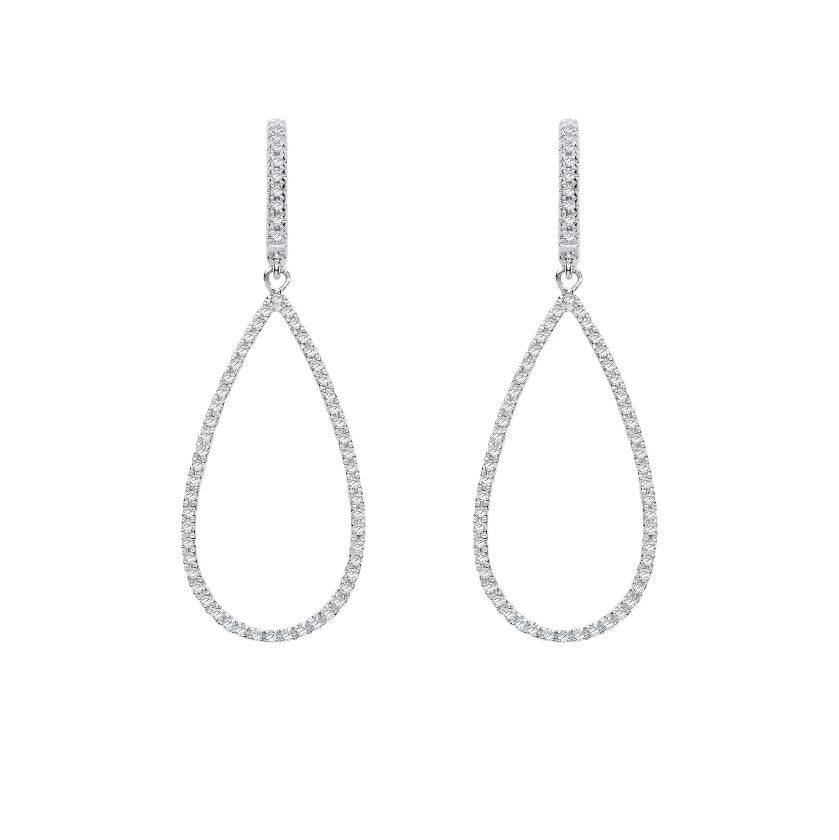 White Diamond Drop Earrings | The Diamond Collection | Augustine Jewels