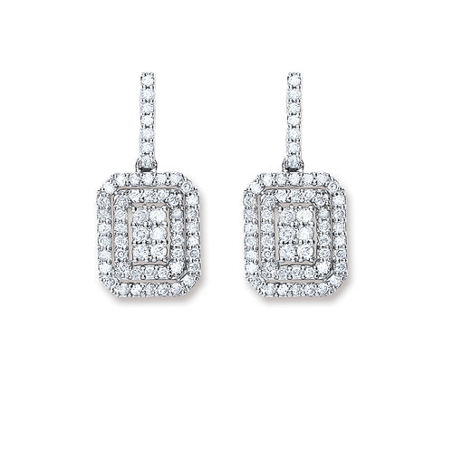 Diamond Pavé Square Earrings
