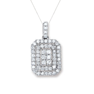 Diamond Pavé Square Pendant
