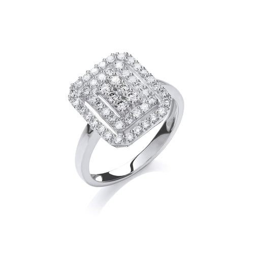 White Gold Diamond Ring | The Diamond Collection | Augustine Jewels | Luxury Diamond Jewellery London