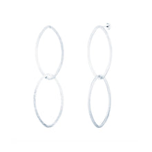 Load image into Gallery viewer, Oval Drop Earrings (Post Style)
