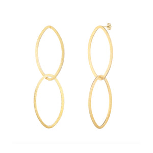 Oval Drop Earrings (Post Style)