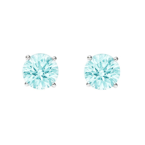Sky Blue Topaz Stud Earrings