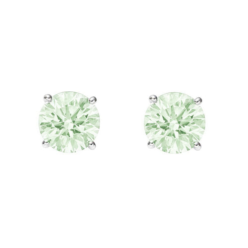 Green Amethyst Stud Earrings