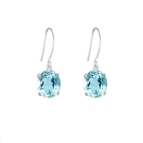 Sky Blue Topaz Hook Earrings