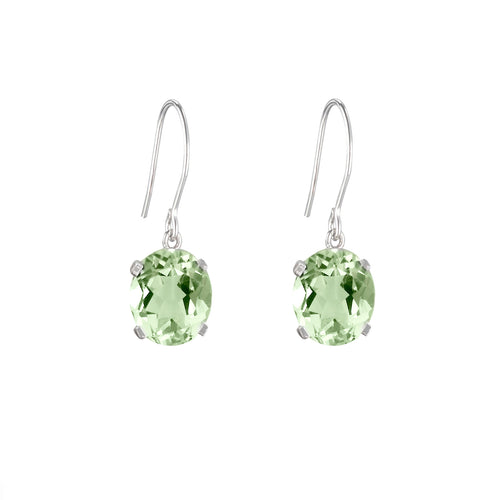 Green Amethyst Hook Earrings