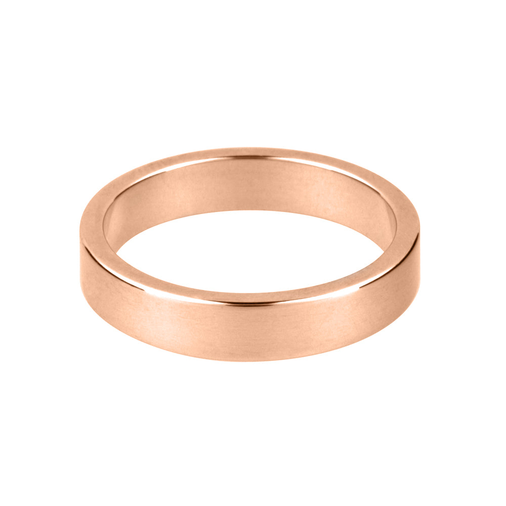 18ct Rose Gold Flat Wedding Band