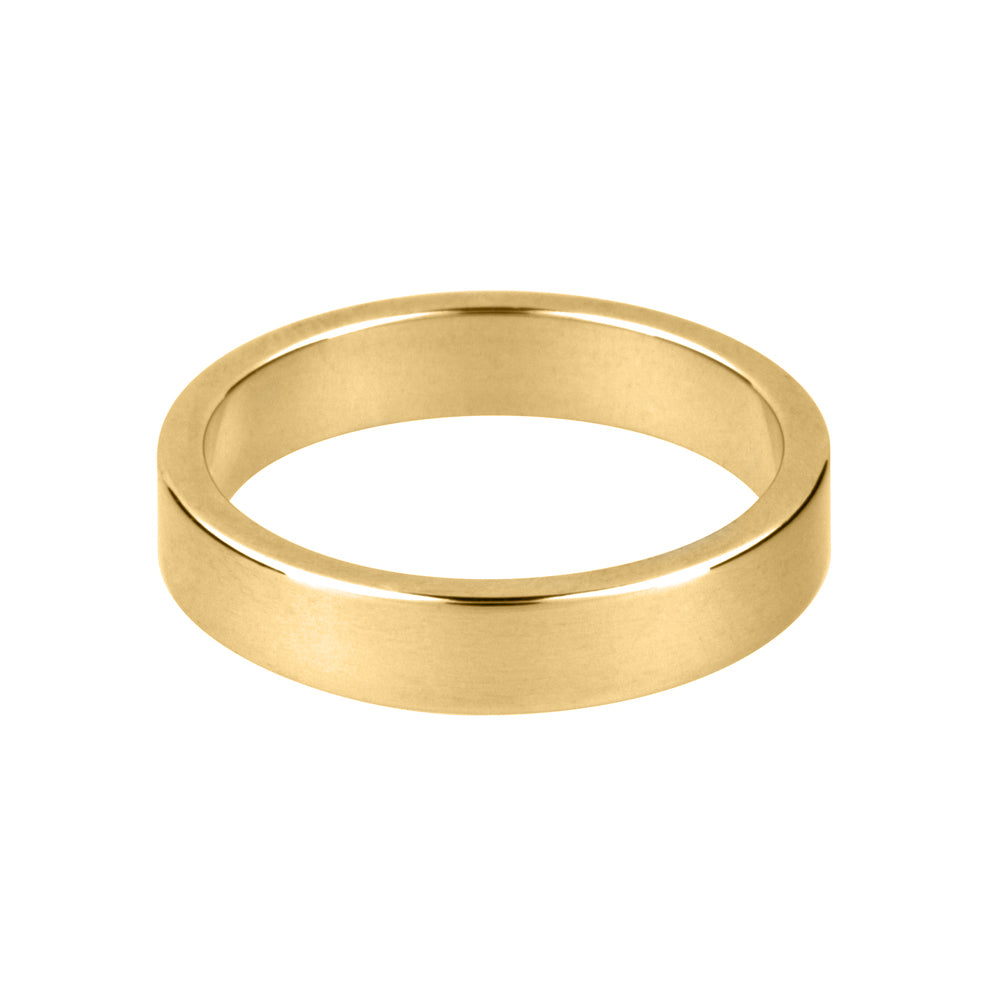 18ct Yellow Gold Flat Wedding Band