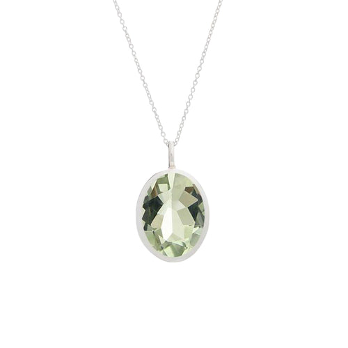 Green Amethyst Pendant | The South of France Collection | Augustine Jewels