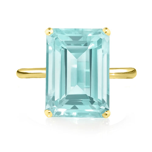 Sky Blue Topaz Ring - Yellow Gold