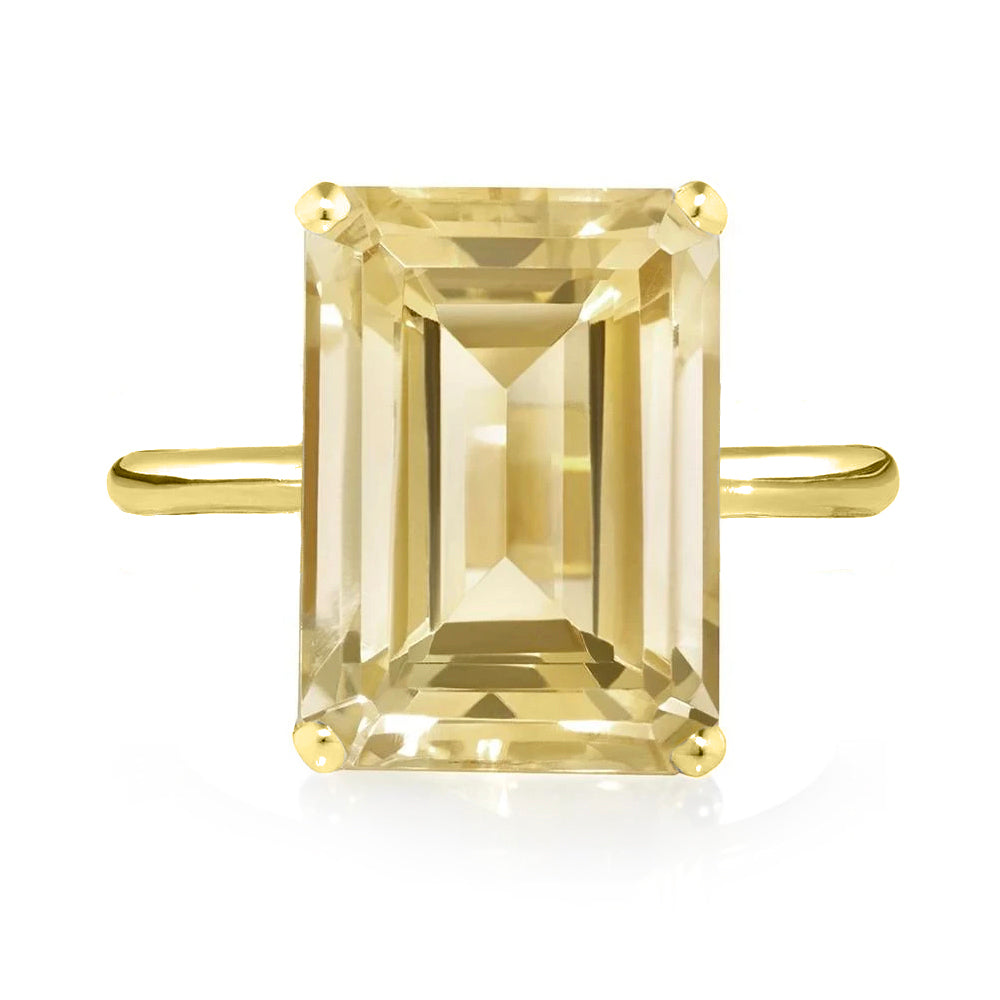 Citrine Ring - Yellow Gold
