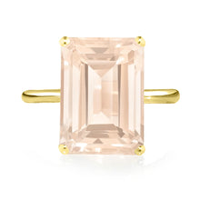 Load image into Gallery viewer, Rose Quartz Ring - Yellow Gold