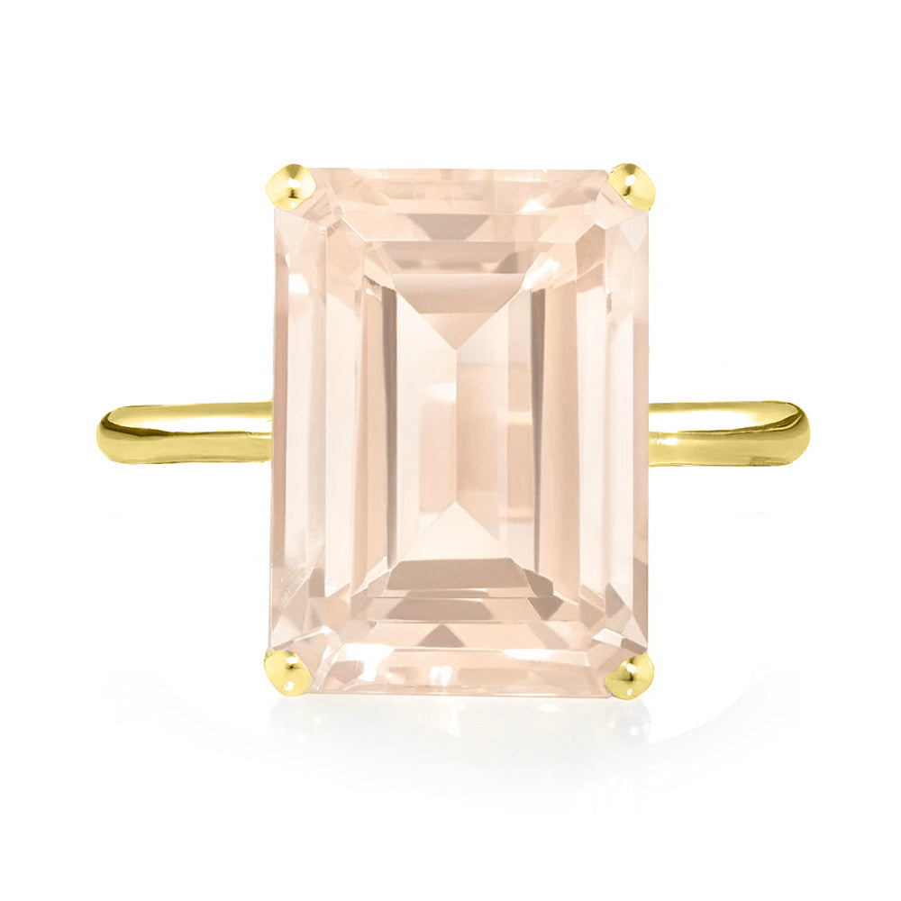 Rose Quartz Ring - Yellow Gold