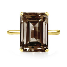 Load image into Gallery viewer, Smoky Quartz Ring - Yellow Gold