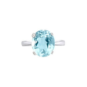 Sky Blue Topaz Oval Ring
