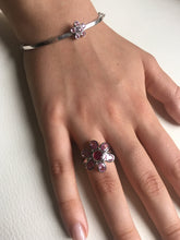 Load image into Gallery viewer, Pink Sapphire, Ruby, & Diamond Bangle