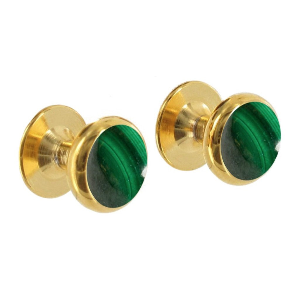 Malachite Shirt Studs