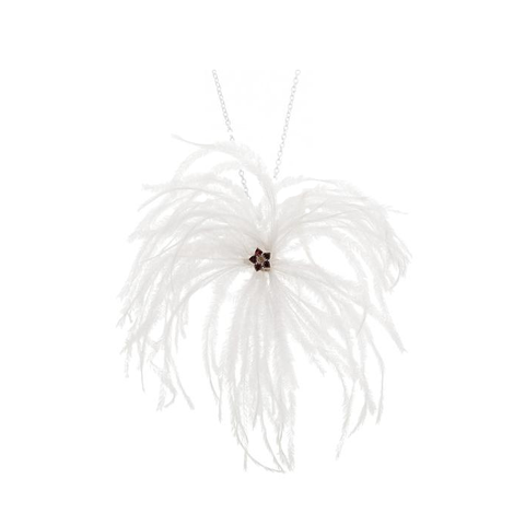 Ostrich Feather Necklace
