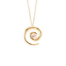 Load image into Gallery viewer, Rose Gold Morganite Spiral Pendant