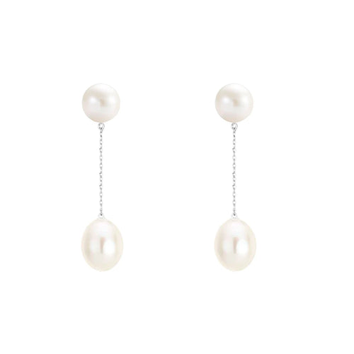 Statement Pearl Drop Earrings