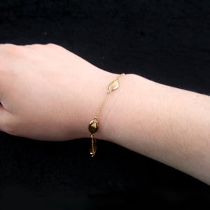 Yellow Gold Oval Bracelet