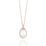 Pearl Drop Rose Gold Necklace
