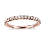 18 ct Rose Gold and Diamond Wedding Band