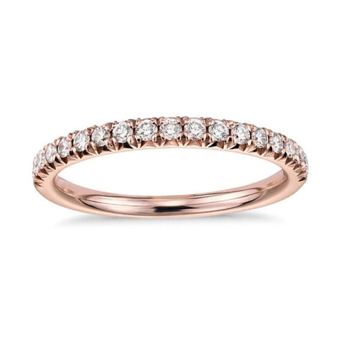 18 ct Rose Gold and Diamond Band
