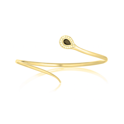 Gold Snake Bangle | Augustine Jewels