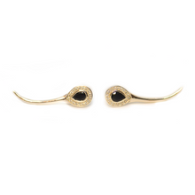 Load image into Gallery viewer, Gold Snake Earrings | Augustine Jewels