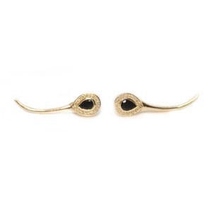 Gold Snake Earrings | Augustine Jewels