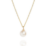 Pearl Drop on 18ct Yellow Gold Necklace