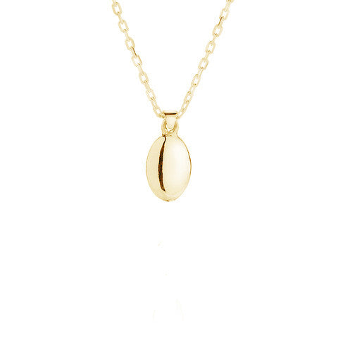 single gold nugget necklace