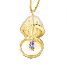 Load image into Gallery viewer, 9ct Gold Diamond Egg Birthstone Pendant