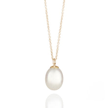 Load image into Gallery viewer, Pearl Drop Yellow Gold Necklace