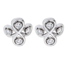 Load image into Gallery viewer, diamond bridal earrings