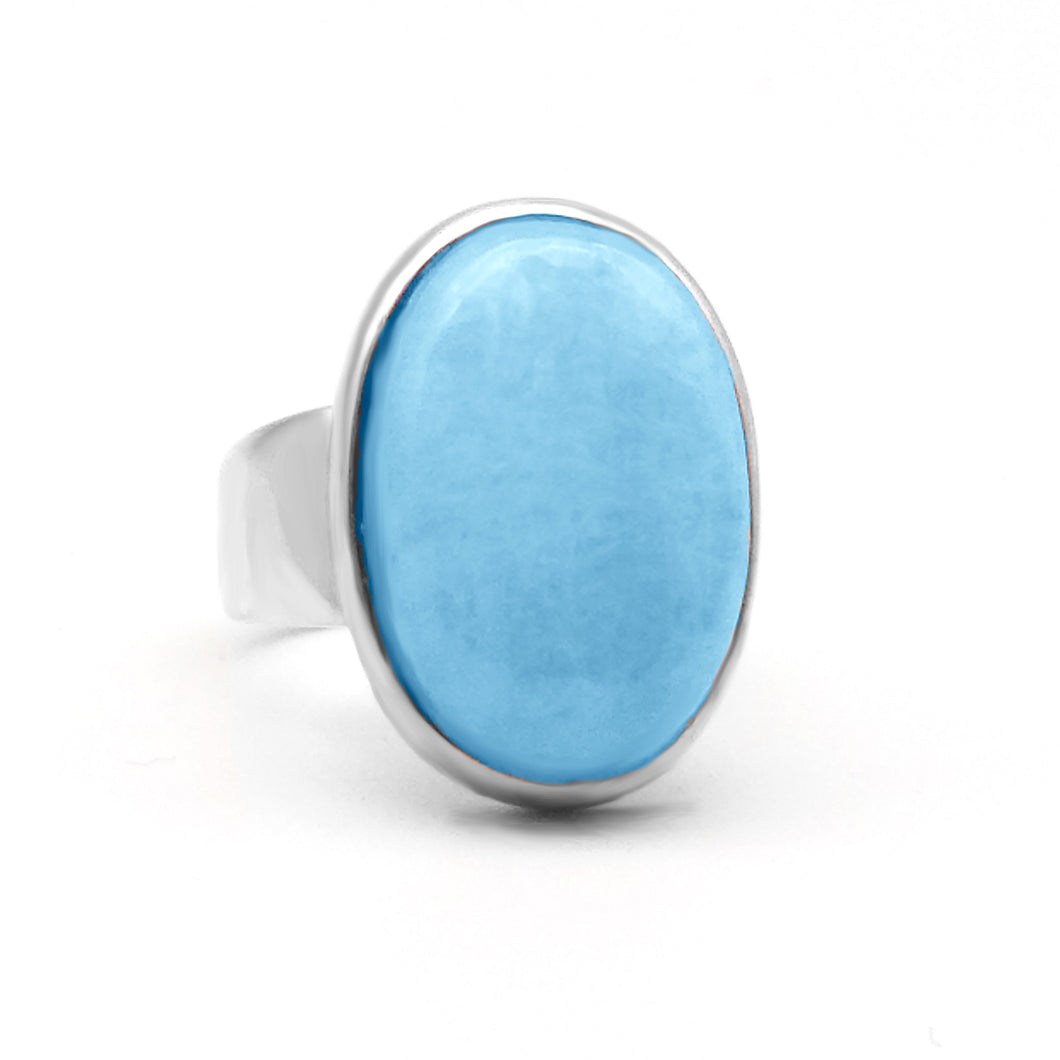 Silver Cabochon Statement Ring