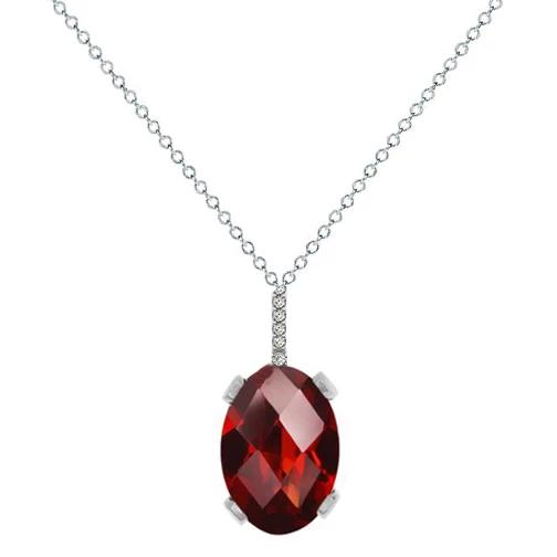 Garnet & Diamond Necklace