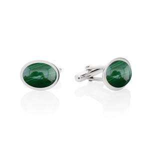 green malachite cufflinks