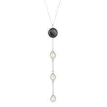 Load image into Gallery viewer, Spinel & Pearl Drop Necklace