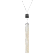 Load image into Gallery viewer, Spinel & Pearl Tassel Necklace