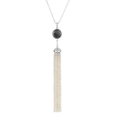 Spinel and Pearl Tassel Necklace
