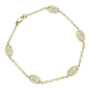 yellow gold diamond pavé bracelet