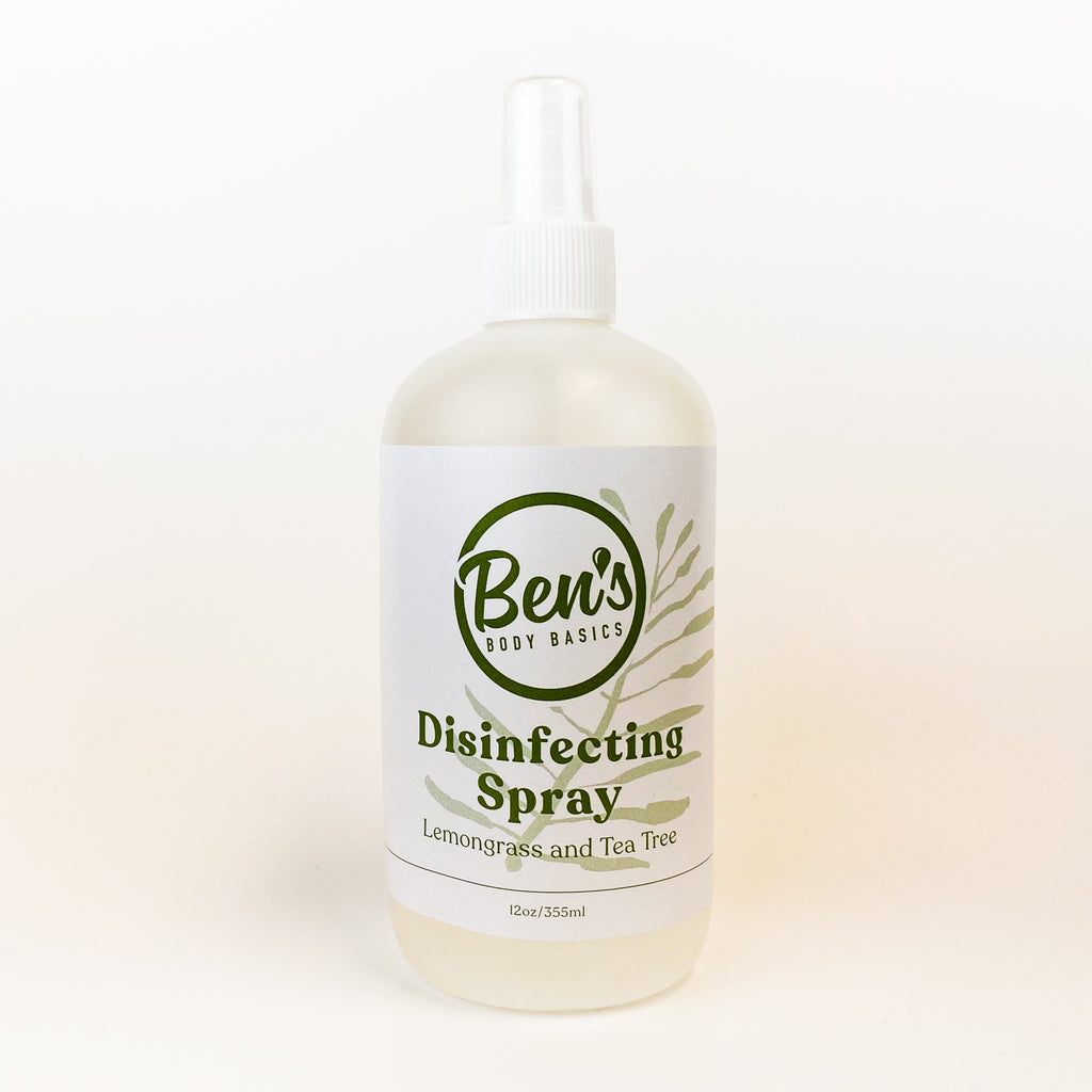 Lemongrass + Tea Tree Disinfecting Spray - Ben's Body Basics