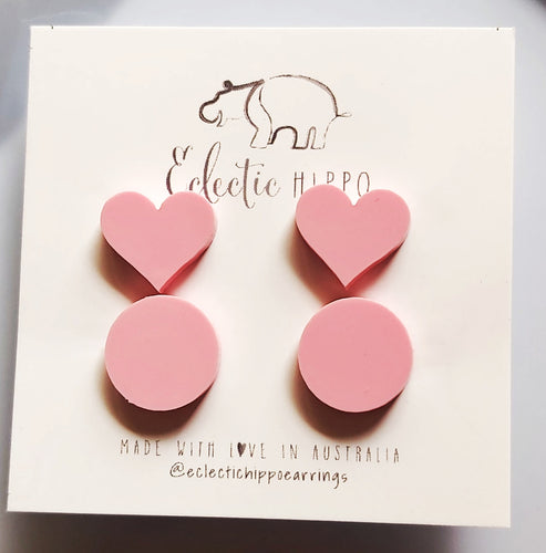 ECLECTIC HIPPO EARRINGS - PARTY FAVOURS - PASTEL PINK