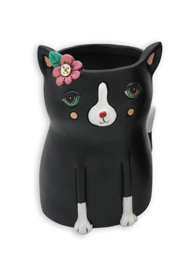 PLANTER - BLACK CAT- Baby Size