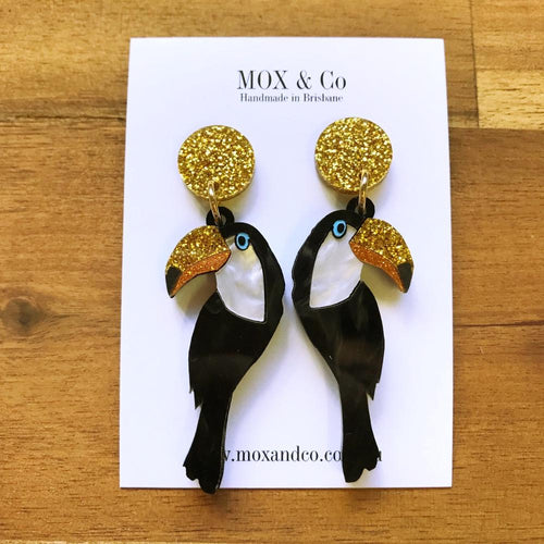 MOX AND CO EARRINGS - TOUCAN DANGLES