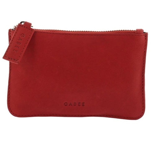 GABEE BAGS VILLAGE COIN PURSE - Red